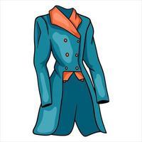 Outfit Reiterkleidung für Jockeyjackenillustration im Cartoon-Stil vektor