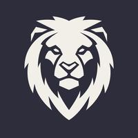 lejon huvud vektor maskot