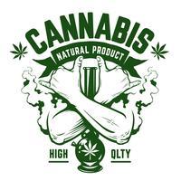 cannabisvektoremblem vektor