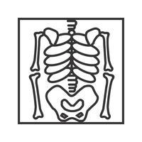 Skelettlinie schwarze Ikone vektor