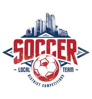 grunge fotboll emblem