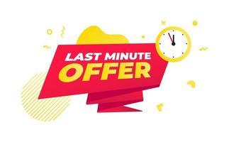 Last-Minute-Angebot Verkauf Countdown-Band-Abzeichen-Symbol-Zeichen vektor