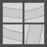 Sammlung von zerrissenen Papierkanten vektor