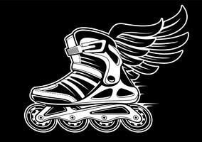 Inline-Rollschuh mit Flügel