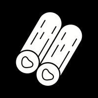 Vektor-Holz-Symbol vektor