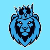 Löwe im Kronen-Vektor-Maskottchen