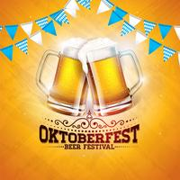 Oktoberfest-Banner-Illustration