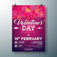 Valentinstag-Party-Flyer