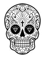 Vektor mexikanischer Schädel mit Mustern