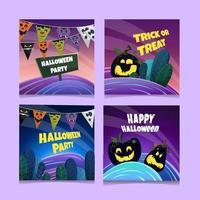 Halloween-Social-Media-Vorlage vektor