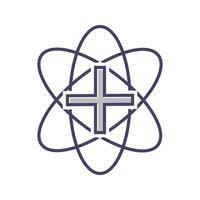 Medicinsk linje svart ikon