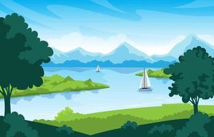 See- und Naturlandschaft vektor