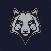 Wolf-Maskottchen-Vektor-Symbol