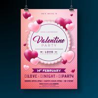 Valentines Day Party Flyer vektor