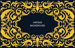 Vintage-Hintergrund mit Wirbelverzierung vektor