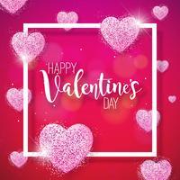 Lycklig Alla hjärtans dag illustration