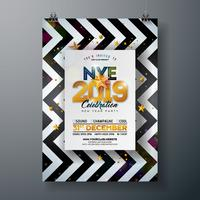 Party-Feier-Plakat des neuen Jahres vektor