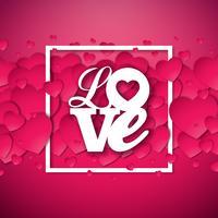 Kärlek Alla hjärtans dag illustration