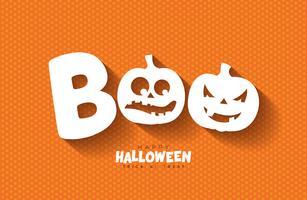 Boo, glückliches Halloween-Design
