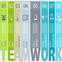 Teamwork koncept - infographic.
