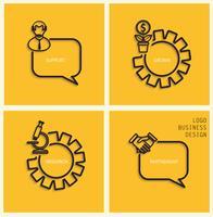 Vektor stöd, verksamhet vuxen, forskning, partnerskap i platt stil.