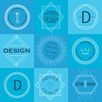 Set Retro Vintage Insignias und Logos. vektor