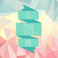 Frühlingszeit auf einem abstrakten polygonalen Hintergrund.