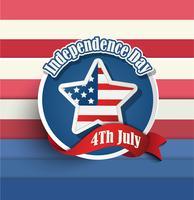 Fjärde av juli amerikanska självständighetsdagen märken. vektor
