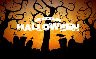 Glückliche Halloween-Fahnenabbildung