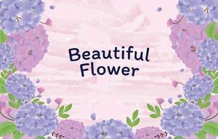 Hintergrund Hortensie schöne Blume vektor