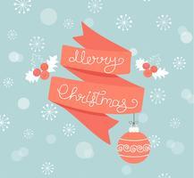 Grußkarte für Weihnachten mit Ball.