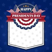 Glückliche Präsidenten Day Banner Background und Grußkarten. Vektor-Illustration vektor