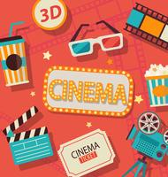 Konzept des Kinos.