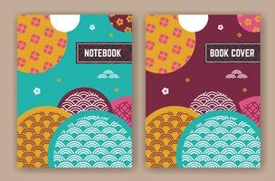 Abstraktes orientalisches Hintergrunddesign für Bucheinband vektor