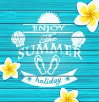 Genieße den Sommer. vektor