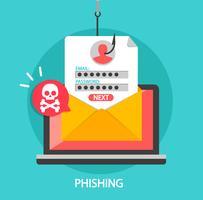 Phishing-inloggning och lösenord på fiskekrok. vektor