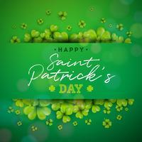 Happy St. Patrick's Day Hintergrund vektor