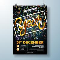 Grattis på nyårsfesten Celebration Flyer