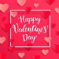 Karte für einen glücklichen Valentinstag. vektor