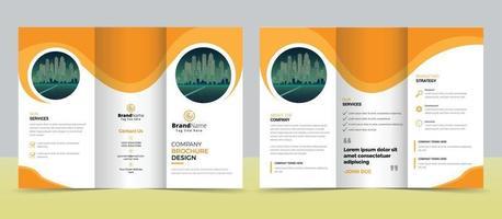 Kreative dreifach gefaltete Broschürenvorlage für moderne Unternehmen vektor