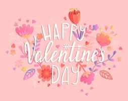 Lyckliga Alla hjärtans dag kort. vektor