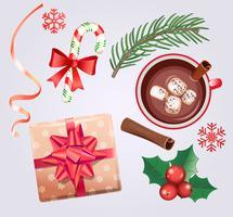 Set för jullov. vektor