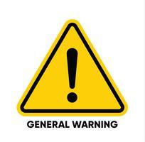 Vektor varningsskyltar och band.