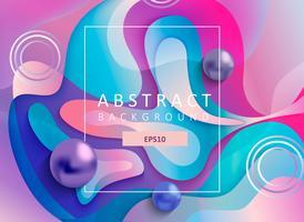 Abstrakt geometrisk gradient bakgrund med bollar.
