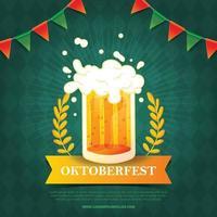 oktoberfest deutscher traditioneller bierfesthintergrund vektor