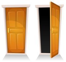 Dörrar, stängda och öppna
