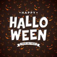 Glad Halloween illustration