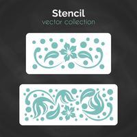 Stencil. Laserskärningsmall. Mönster för dekorativ panel.