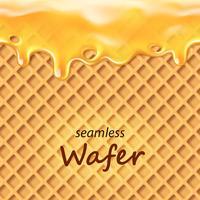 Seamless wafer och droppande orange grädde eller sylt