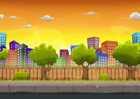 Seamless Street City Landskap För Spel Ui vektor